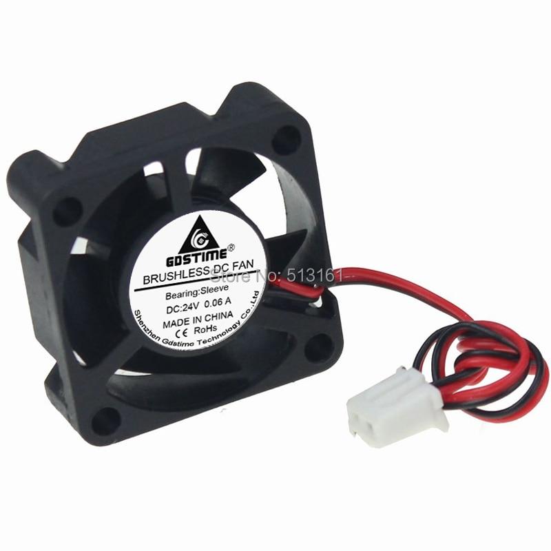 1 Piece Gdstime 3cm 3010s 30x30x10mm 24V XH2.54-2Pin 30mmm Brushless DC Cooling Fan