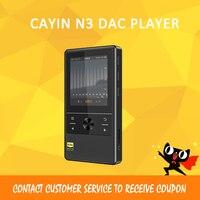 Nuevo Cayin N3 DAC Loseless Bluetooth 4.0 Apt x Hifi DSD DAC MP3 FLAC Portable Music Player Support 256 DOP CTIA Type C black