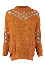 Trendyol WOMEN-Orange Hair Braided Ajurlu Knitwear Sweater TWOAW20XS0011()