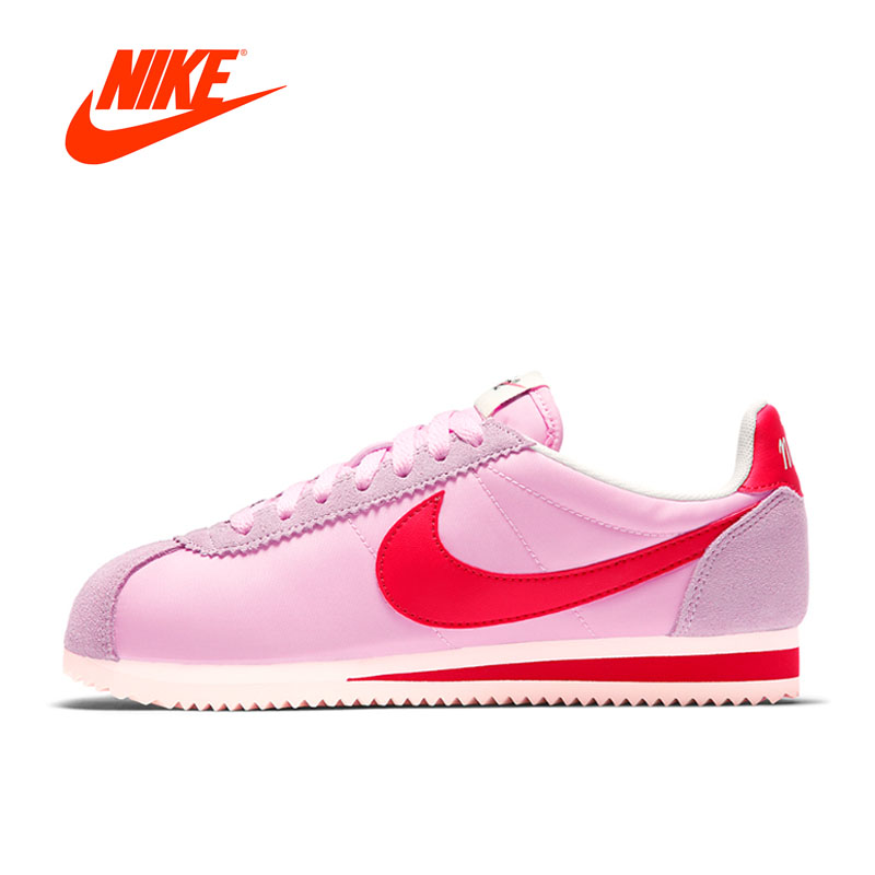 Original New Arrival Authentic Nike Classic Cortez Women's Running Shoes Sports Sneakers Outdoor Walking Jogging Athletic original new arrival 2017 nike pro classic logo read women s sports bras sportswear