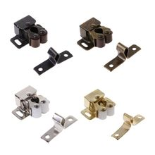 Cabinet Door Magnetic Catch Stopper Roller Latch Cupboard Furniture Fitting 20pcs plastic steel magnetic cabinet cupboard catch glasses window door catches pull clamps ark to suck white hg99