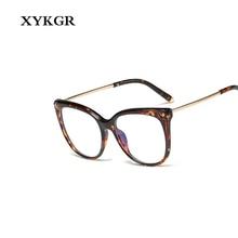 XYKGR new ladies TR90 anti-blue eye glasses fashion cat eyes trend frame optical computer