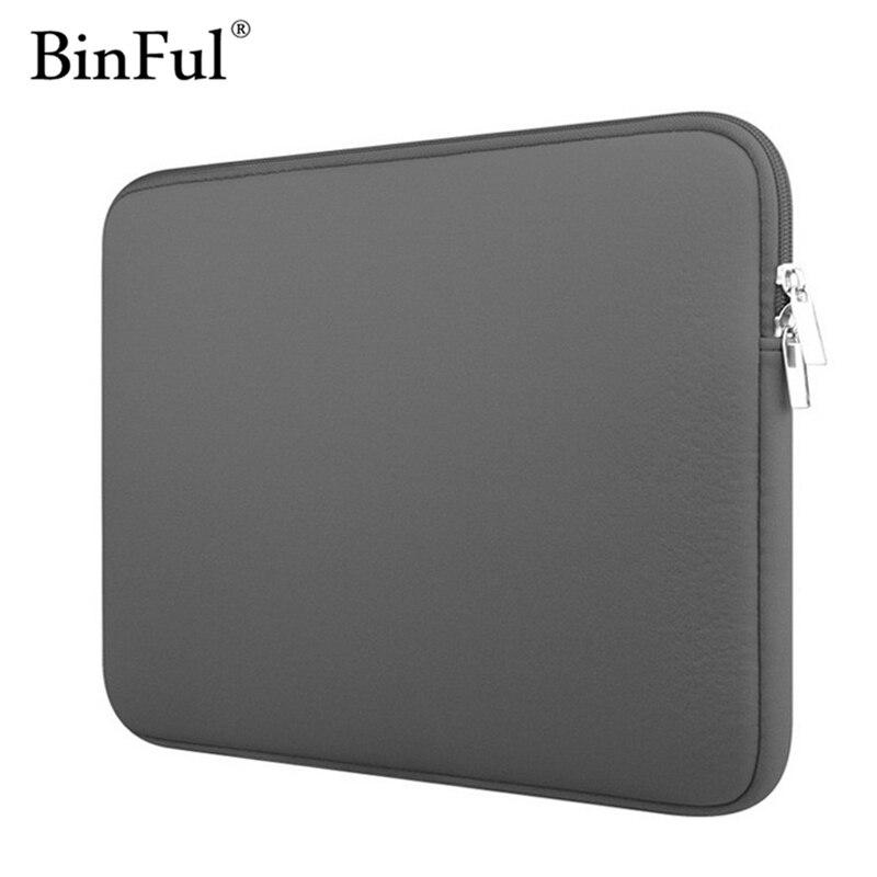 "BinFul Neoprene מחשב נייד מחברת מקרה נשים גברים שרוול מחשב כיס 11 ""12"" 13 ""15"" 15.6"" עבור Macbook Pro אוויר רשתית לשאת 14 inch"