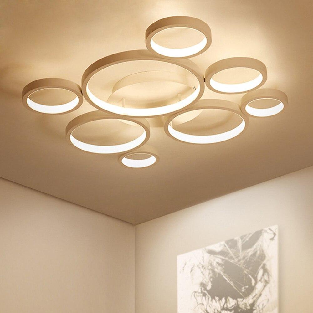 Moderne Plafond Led Lampe Plafond Lumières pour Salon Chambre Chambre LED Lumière Plafond Dimmable avec Télécommande Luminaire