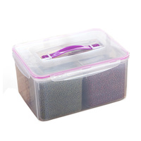 Plastic Transparent Storage Box Container And Multi Function Home Kitchen Refrigerator Grain Cereal Sealed Fresh Storage Boxes