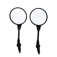 1 Pair Oval Motorcycle Mirrors Universal 8mm 10mm Motorbike Motorcycle Rearview Side Mirror For Honda Yamaha