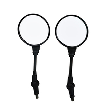 1 Pair Oval Motorcycle Mirrors Universal 8mm 10mm Motorbike Motorcycle Rearview Side Mirror For Honda Yamaha KTM Suzuki Kawasaki