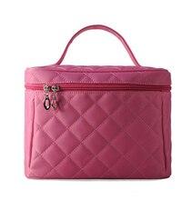 2016 Cosmetic bag Quilted professional makeup organizer femal large capacity storage handbag travel toiletry cosmetic box