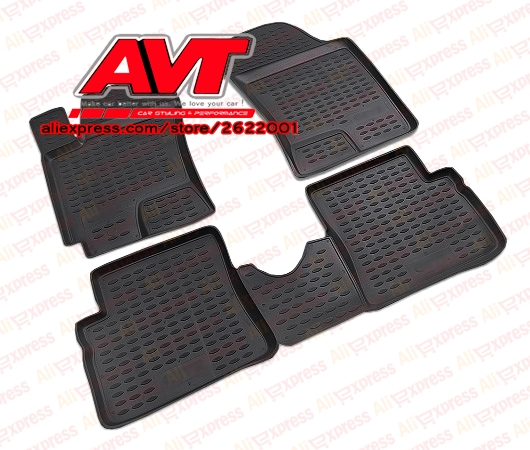 Floor mats for Hyundai Getz 2002- 4 pcs rubber rugs non slip rubber interior car styling accessories