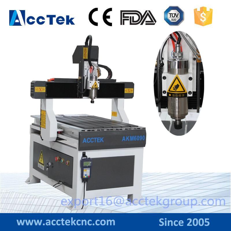 цены Jinan acctek mini cnc pcb router/pcb cutter engraver drilling cnc machine dsp machi3 control system 4040 6040 6090