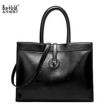 BRIGGS Vintage Women Handbag Casual Tote Bag Female Large Shoulder Messenger Bags Quality Leather Top-handle Bag For Women цена 2017