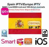 Meilleur espagne/espagnol IPTV Spaanse Kanaal Abonnement Iptv España Italie Spaans frankrijk Duitsland Portugal france pour Android m3u