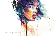 No Frame Knife Sex Lady Abstract Oil Painting Wall Decoration Home and Hotel Canvas Painting Picturer