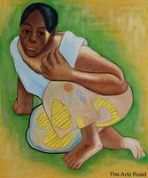 Abstract Female Painting Study for When Will You Marry Paul Gauguin Oil Painting Portrait Hand Painted