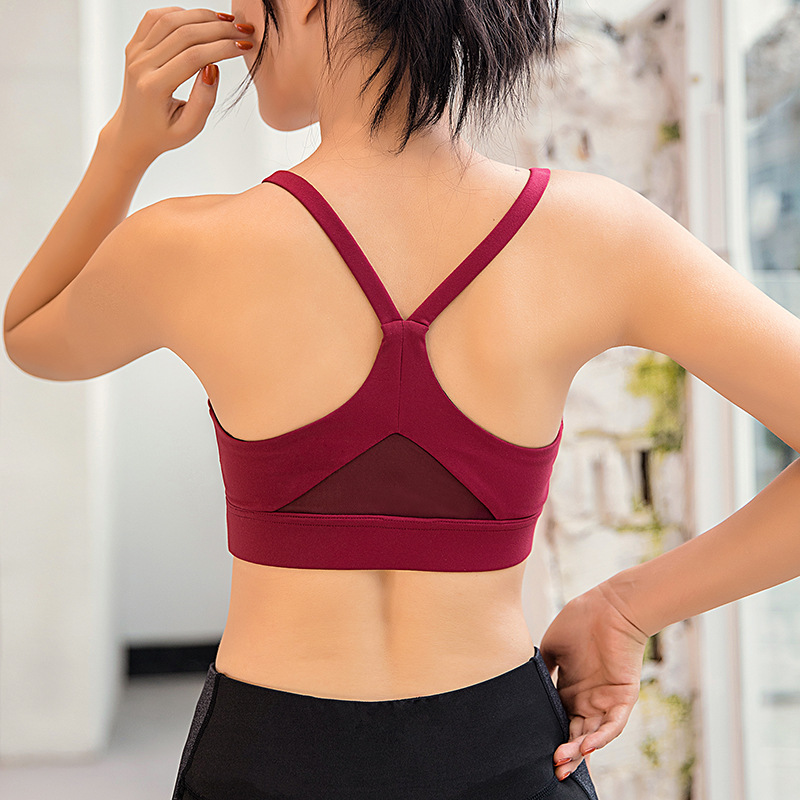 f490909f66 Women Racerback Sports Bra Padded Push Up Yoga Bra Gym Tank Top White Black  Red Sport Bra Women Fitness Halter Top Active Wear-in Sports Bras from  Sports ...