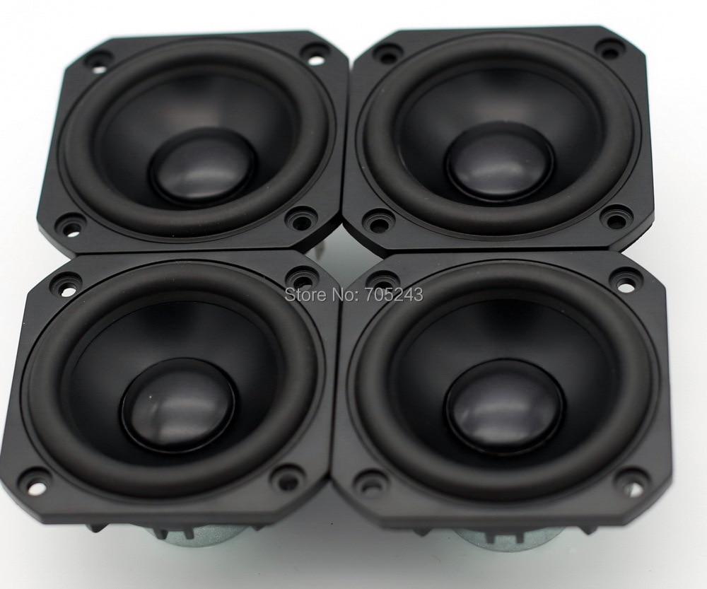 4 pcs Melo david peerless hifi 3 inch aluminum cone NEO magnet fullrange speaker free ship desk audio 8 ohm 50W free shipping