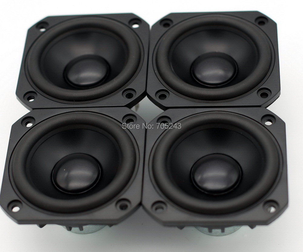 4 pcs Melo david peerless hifi 3 inch aluminum cone NEO magnet fullrange speaker free ship desk audio 8 ohm 50W free shipping