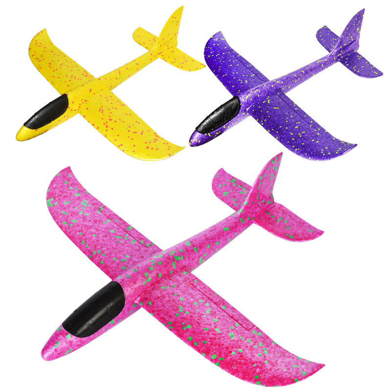 DIY Kids Toys Hand Throw Flying Glider Planes Foam Aeroplane Model Party Bag Fillers Flying Glider Plane Toys For Kids Game image