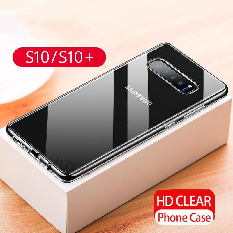 For Samsung Galaxy S10 Case Ultrathin Transparent Soft TPU Case For Samsung Galaxy S10 Plus S10E M10 M20 S 10 M105F M205F Fundas