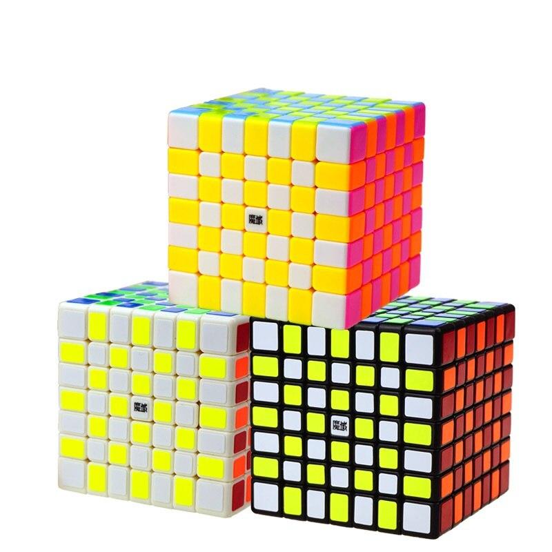 YJ MoYu 70mm AoFu GT 7X7X7 vitesse Puzzle Cube professionnel torsion Cubes Cubo Magico classique apprentissage jouets éducatifs enfant cadeaux