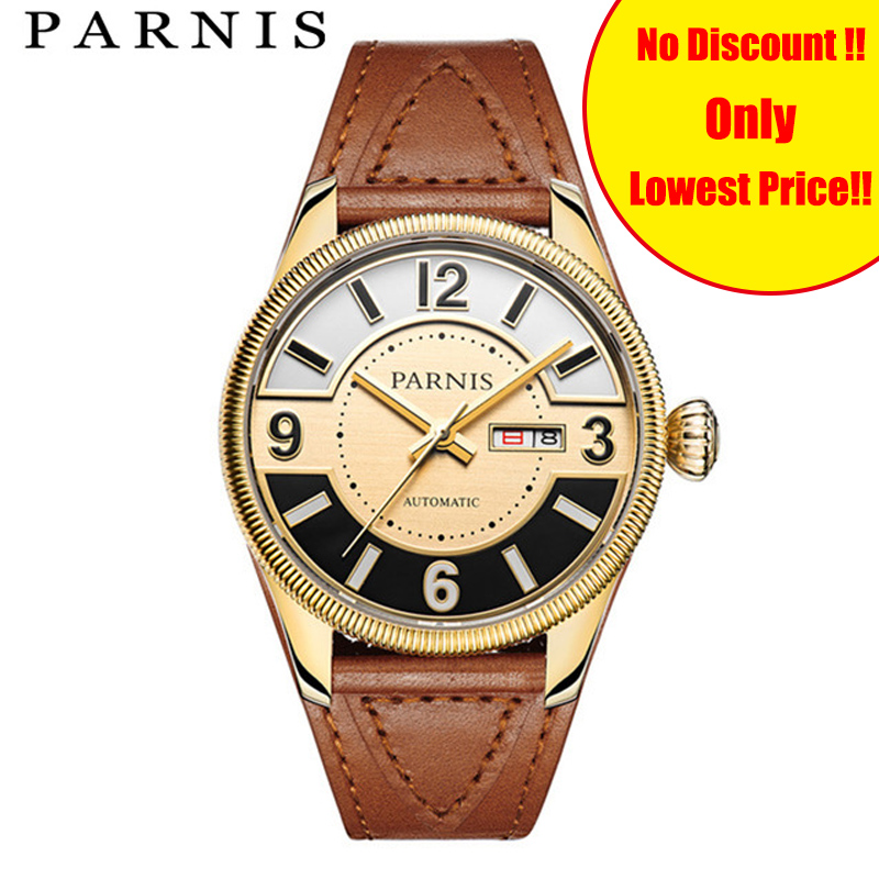 Fashion 42mm Men Automatic Watch Royal Series Parnis Mens Mechanical Watch Japan Miyota Sapphire Stainless Steel PVD CaseFashion 42mm Men Automatic Watch Royal Series Parnis Mens Mechanical Watch Japan Miyota Sapphire Stainless Steel PVD Case
