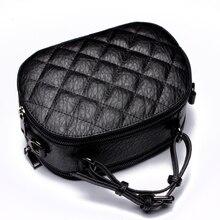 Caker 2017 Women Diamond Lattice Top Real Genuine Leather Handbags Black Red Green Shoulder Crossbody Bag Messenger Totes