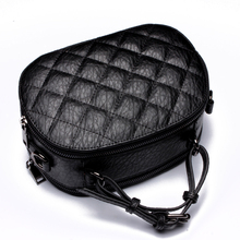 Caker 2017 Women Diamond Lattice Top Real Genuine Leather Handbags Black Red Green Shoulder Crossbody Bag Messenger Totes
