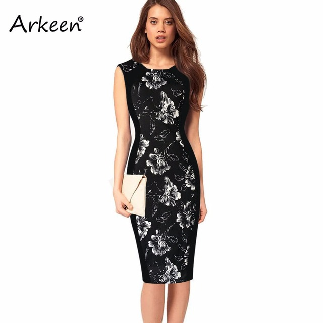 Arkeen Elegant 2017 Ceremony Floral Sexy Dress Stripe Wave Party ...