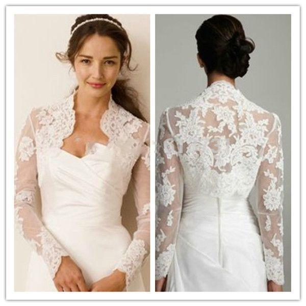 newly arrivals wedding wraps jacket wedding shrugs 2016 new free shipping women bridal long sleeves white