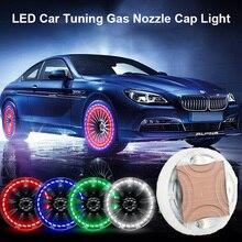 цена на 2pcs/set Car Waterproof Solar Energy Wheel Light Decorative Flashing Colorful LED Tire Light Car Tuning Gas Nozzle Cap Light