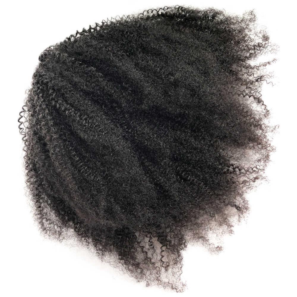 Eseewigs афро кудрявый конский хвост для женщин натуральные цветные волосы Реми 1 шт. зажим в хвосты шнурок бразильские человеческие волосы