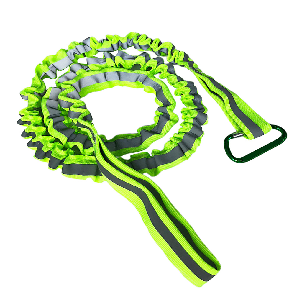 120 Cm/47 Inch Coiled Kayak Fishing Rod Paddle Oar Leash Canoe Accessories Reflective Green Kayak Paddle Leash