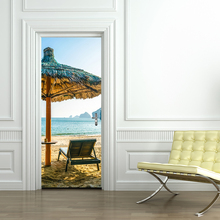 Beach Umbrellas Wall Decoration Removable Wall Stickers for living Room PVC Waterproof Door Sticker Home Decor live love waterproof removable wall sticker for home decor
