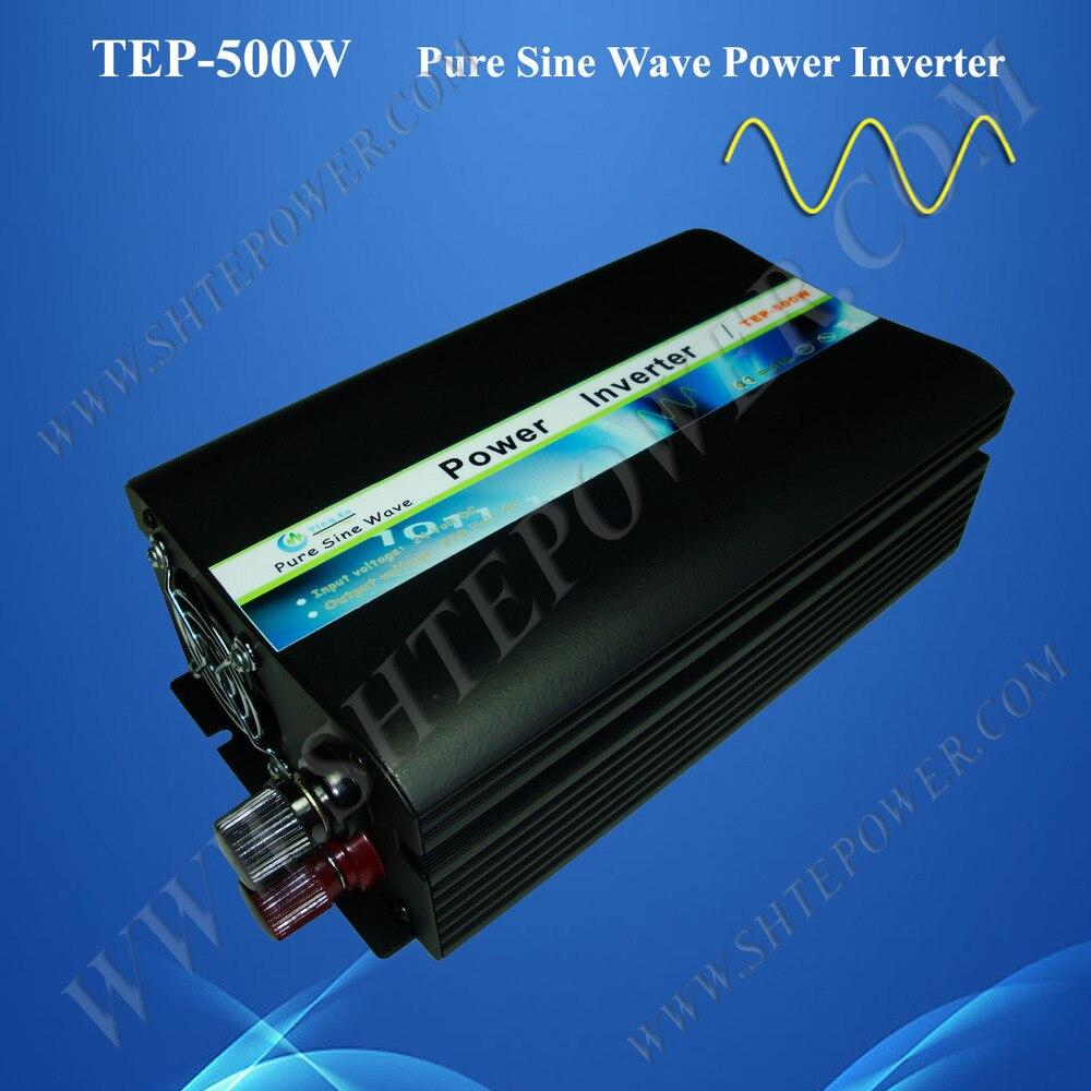 Горячая 500 Вт Чистая синусоида Инвертор для солнечной энергии dc 12 v/24 v к ac 110 v/120 v