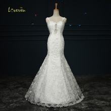 Loverxu Romantic Sweetheart Backless Mermaid Wedding Dress