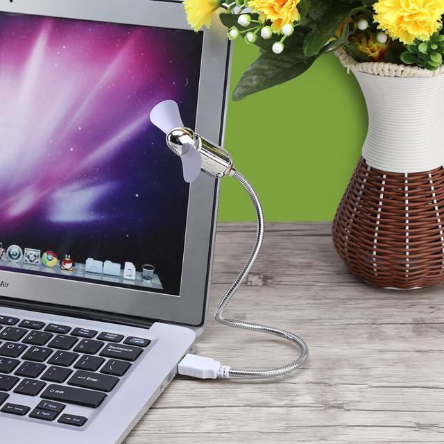 Mini USB Fan starke wind Für Notebook Laptop Computer Kühlung Flexible USB Gadgets Fan Stecker und spielen Metall Schlauch Tragbare USB Fan
