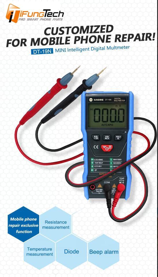 SUNSHINE DT-19N Mini Smart Multimeter Range Mobile Phone Repair RepairSUNSHINE DT-19N Mini Smart Multimeter Range Mobile Phone Repair Repair
