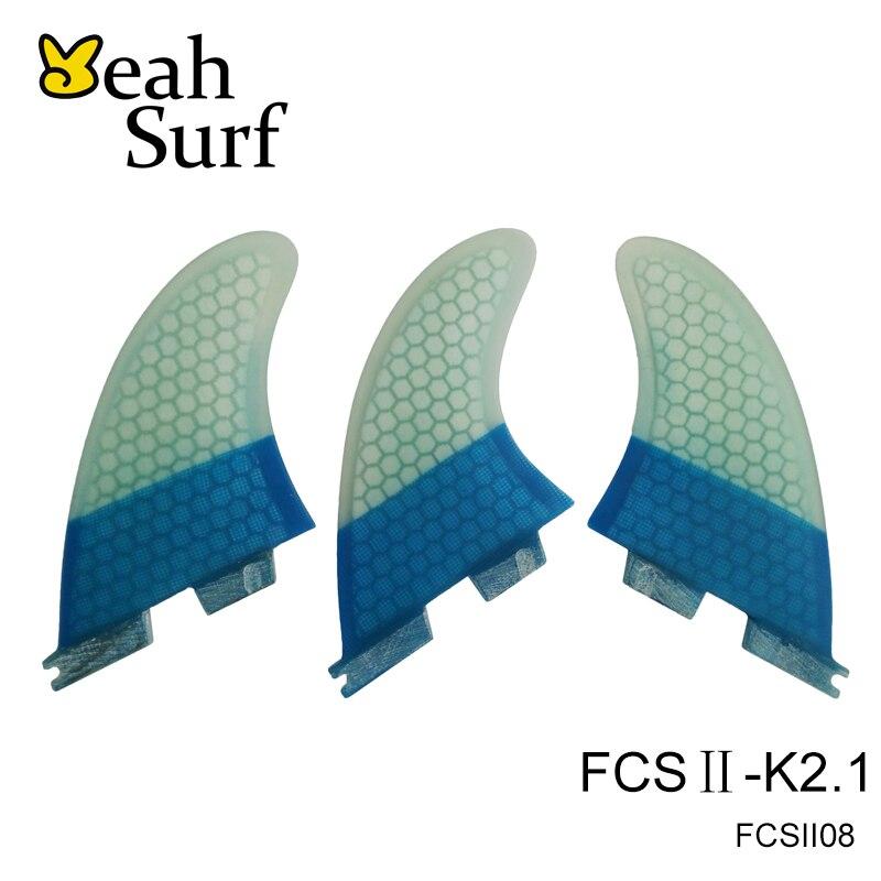 SUP Board FCS 2 Surfboard Fins fcsii Blue Quilhas FCS2 K2.1 Honeycomb Fibreglass Fin Surf FCSII Fins surfing fcs fins g5 honeycomb fibreglass fin orange surf quilhas