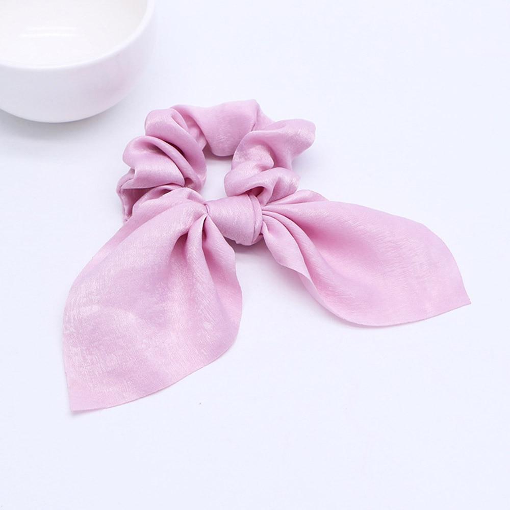 Nouveau mousseline de soie Bowknot élastique bandes de cheveux pour les femmes filles perle chouchous bandeau cheveux cravates élastique pour queue de cheval accessoires de cheveux 16