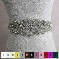 Free shipping 2016 Bride wedding belt luxury sparkling diamond diy accessories ribbon bow waist girdle dress Wedding Accessories