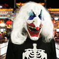 Creative Adult Halloween mischief horror toy white scary clown Mask Costume Ball Costume Party accessories Festival gift