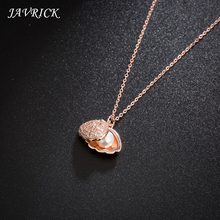 Ladies Shell Necklace Artificial Pearl Pendant Short Clavicle Chain Temperament Cold Light Personality Small Jewelry For Women