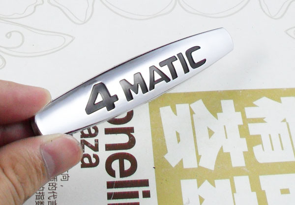 Auto car 4Matic 4 Matic fit for 220 817 08 15 S-Class Trunk Emblem Badge Sticker auto chrome camaro letters for 1968 1969 camaro emblem badge sticker