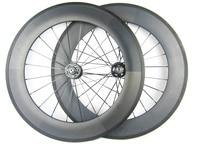 carbon fiber track bike wheels 88mm clincher 700C wheelset fixed gearing bicycle single speed wheels
