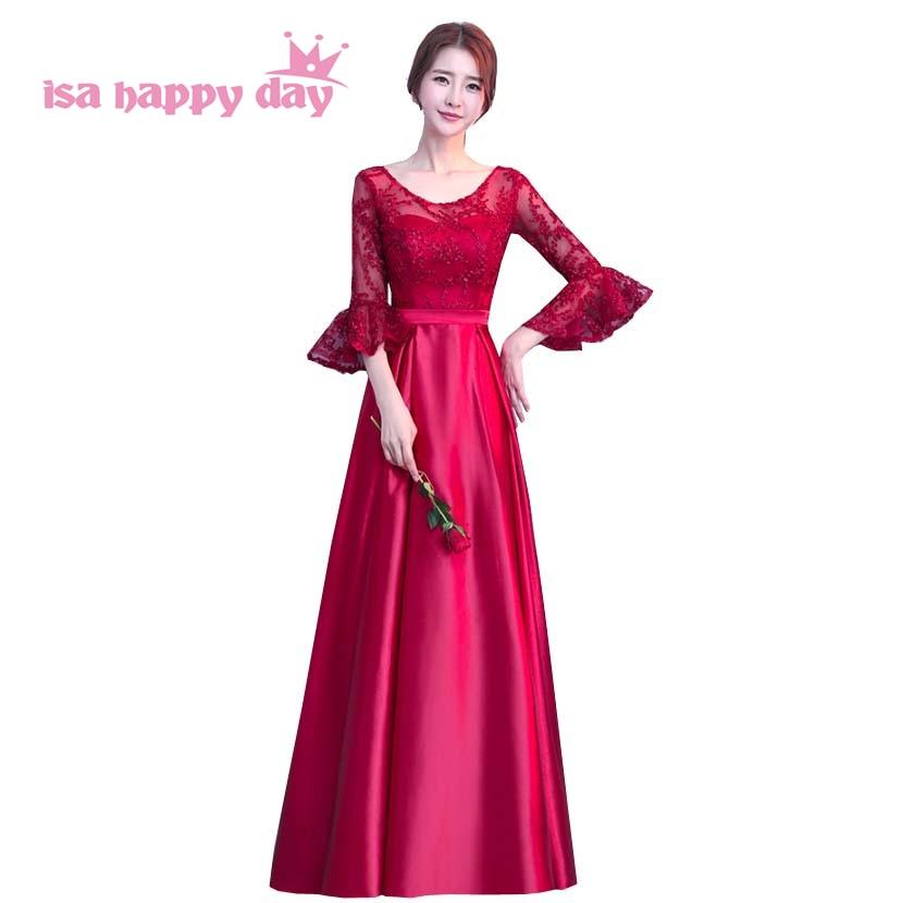 Weddings & Events Warnen Herbst Prinzessin Schöne Süße 16 Teen Mädchen ärmeln Verziert Spitze Homecoming Kleider Modest Wein Roten Kleid Ballkleid H4182 AusgewäHltes Material