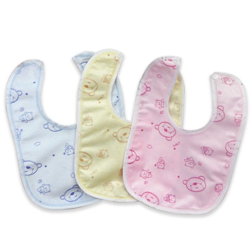 Random Style Happy  Baby Bib Velvet Waterproof Baby Care Feeding Printing Bibs Towel