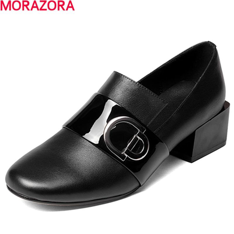 Negro Mujer Llega Genuino Bombas 42 Mujeres De plata Zapatos Popular Cuatro Morazora Moda 34 Grande Solo Cuero Estaciones Tamaño Nuevo xY7wwq5U