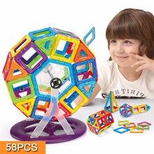Magnétique Jouet 58 PCS Mini Magnétique Modèles et Kits de Construction Blocs 3D Construction Scénographe Enfants DIY Éducatifs Kds Jouets