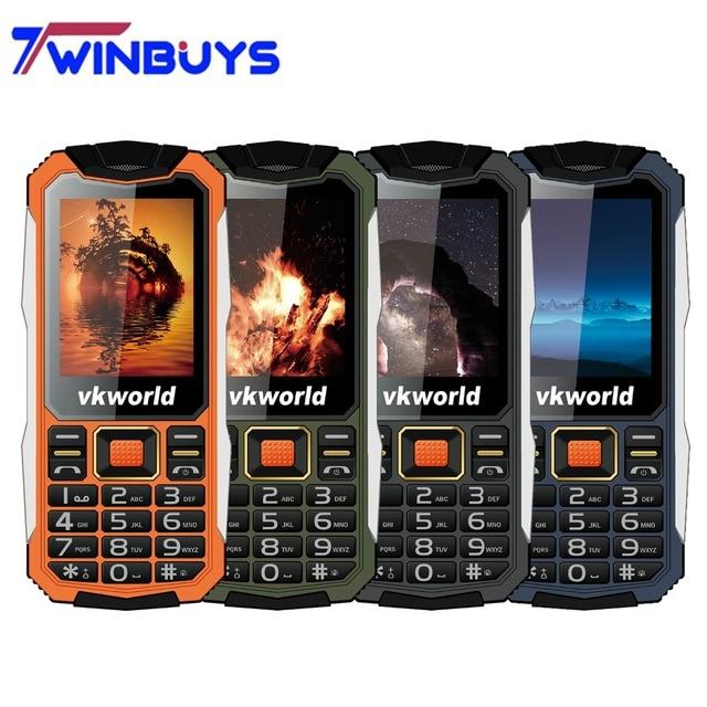 "VKworld Stone V3S Cell Phone 2.4"" Dual SIM Slot Bluetooth Daily Waterproof 21 Keys Mobile Phone Anti-Low Temperature 2G 2200mAh"