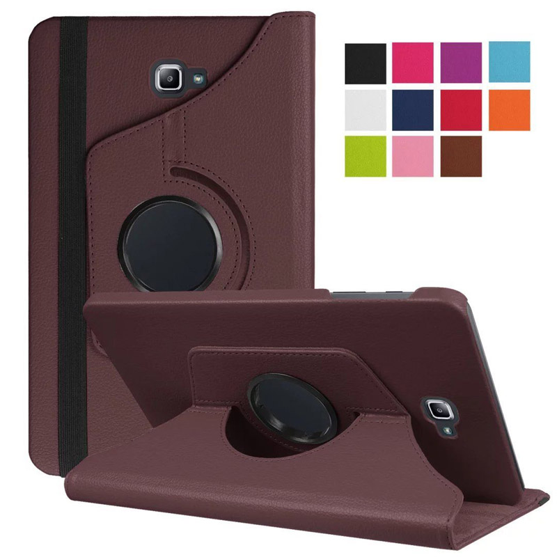 360 Degree Rotating Stand Leather Protective Cover For Samsung Galaxy Tab A A6 10.1 2016 SM-T580 T580N T585 T585C Tablet Case